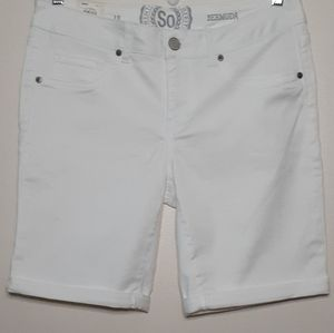 So brand White Bermuda shorts. Size 13 NWT.